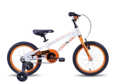 Велосипед 2018 Apollo Neo 16 Boys серебристо-оранжевый