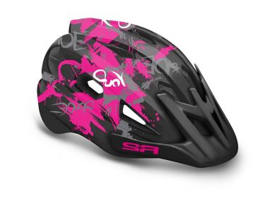 Шлем R2 Wheelie 56-58(р) черно-розовый