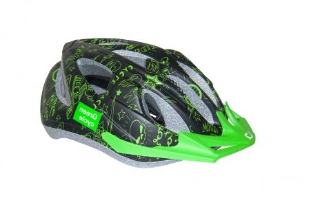 Шлем Green Cycle Fast Five детский 50-56(р) черно-зеленый