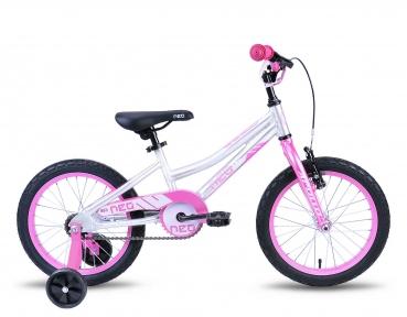Велосипед 2018 Apollo Neo 16 Girls серебристо-розовый