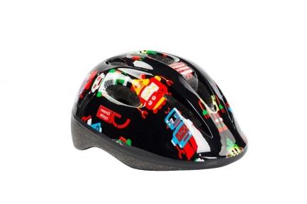 Шлем Green Cycle Robots детский 48-52(р) черный