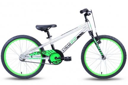 Велосипед 2018 Apollo Neo 20 Boys серебристо-зеленый