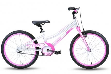 Велосипед 2018 Apollo Neo 20 Girls серебристо-розовый